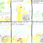 """Comics zu der Fabel """"Der Löwe und die Maus"""" der 6a"""